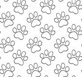 Pattern with the contours of the cat's paw Royalty Free Stock Photos