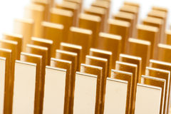 Pattern of copper computer cooling radiator Royalty Free Stock Photos