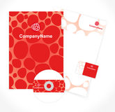 Pattern of corporate identity Royalty Free Stock Photo