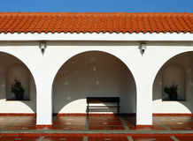 Pattern of covered arcade in Spanish style. Stock Photography
