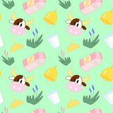 Pattern about cow life Royalty Free Stock Photos