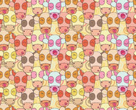 Pattern from cows muzzles Stock Photography