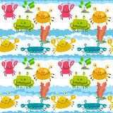 Pattern with crabs Stock Images