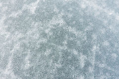 The pattern of cracks on the blue ice of Lake Baikal Royalty Free Stock Photography