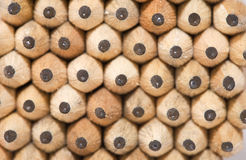 Pattern created from wooden pencils Royalty Free Stock Images