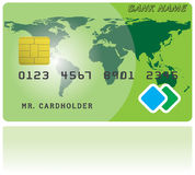 Pattern of credit card Royalty Free Stock Photos