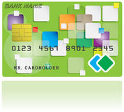 Pattern of credit card Royalty Free Stock Photography
