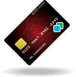 Pattern of credit card Royalty Free Stock Photo