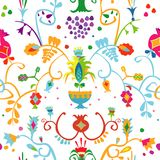 Pattern with Crimean Tatar ornament Royalty Free Stock Photography