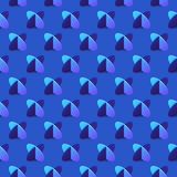 Pattern cross elipse2-01. Seamless pattern with two blue crossed ellipses on blue background. Ready for your design. Vector illustration royalty free illustration