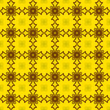 Pattern cross on gold Royalty Free Stock Photography