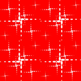 The pattern of the crosses. White dotted crosses on a red background Stock Photos