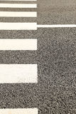 Pattern of Crosswalk. In City Royalty Free Stock Images