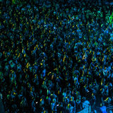 Pattern of crowd. Abstract, blue-yellow, pattern of audience royalty free stock image