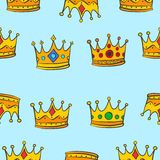 Pattern of crown elegant collection Stock Photo