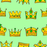 Pattern of crown gold style collection Stock Photos
