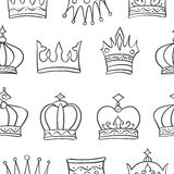 Pattern crown hand draw collection Stock Image