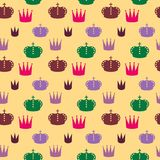 Pattern with crowns. Pattern on a light background with colored crowns Royalty Free Stock Photography