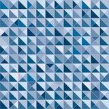 Pattern cube triangle blue and white color Stock Images