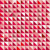 Pattern cube triangle red and white color Stock Photography