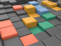 Pattern of cubes Royalty Free Stock Photo