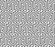 Pattern with cubes. royalty free illustration