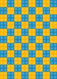 Pattern of cubes designer. Blue and yellow color Royalty Free Illustration