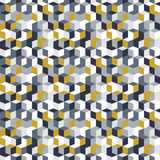 Pattern with cubes in random colors Royalty Free Stock Photography