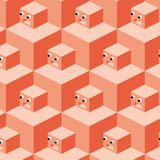 Pattern cubes robot (vector) Royalty Free Stock Photo