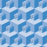 Pattern cubes robot (vector) Stock Image