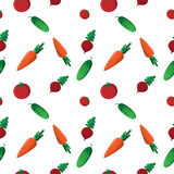 Pattern cucumber tomato carrot beet. It can be used as seamless textures Stock Photo