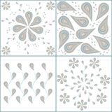 Pattern cucumbers. Cucumber pattern four types of floral ornament Royalty Free Stock Photos