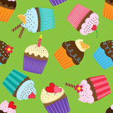 Pattern with cupcakes Royalty Free Stock Image