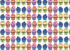 Pattern of cupcakes Stock Photography