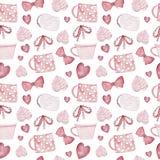 Watercolor sweet autumn seamless pattern. stock illustration