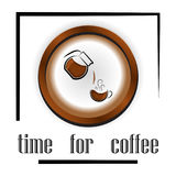 Pattern: cups of coffee and coffee accessories, coffee beans.   Royalty Free Stock Images
