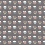 Pattern of  cups Royalty Free Stock Photography