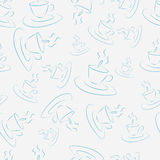 Pattern with cups Royalty Free Stock Photography