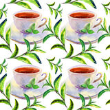 Pattern with cups Stock Photos