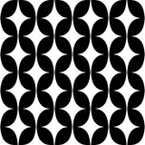 Pattern with curved rhombus Royalty Free Stock Image