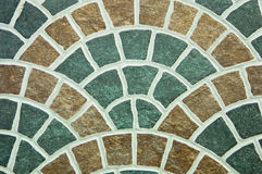 Pattern of curved surface tiles. Royalty Free Stock Photography
