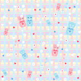 Pattern with cute bears Stock Photos