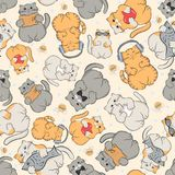 Pattern with cute cats. Stock Photography
