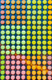 Pattern with cute colored French macaroons in Paris. France Stock Photo