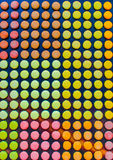 Pattern with cute colored French macaroons in Paris. France Royalty Free Stock Images