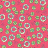 Pattern with cute leaves in red color Royalty Free Stock Photography