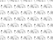 Pattern of cute sheep Royalty Free Stock Photos