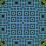 Pattern 3d Grid in cyan Royalty Free Stock Photography