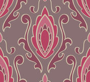 Pattern with damask. Royalty Free Stock Photos