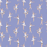 Pattern of the dancing ballerinas Stock Photos